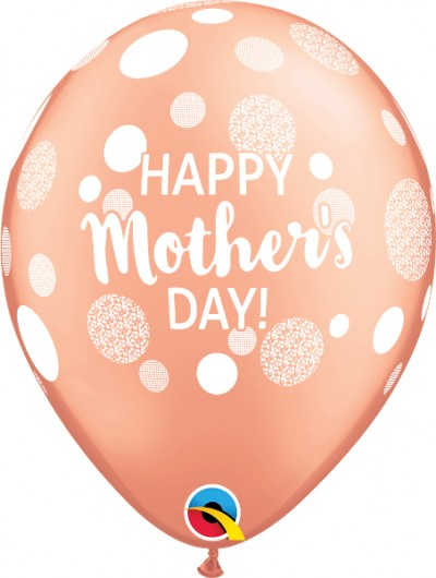 """11"""" Mother's Day Dots Rose Gold (50 ct)"""