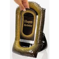 Gift-N-Flate Black Gold Sparkle