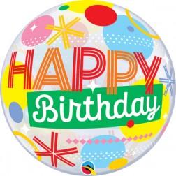 "Bubble 22"" Birthday Circles & Dot Stripes"