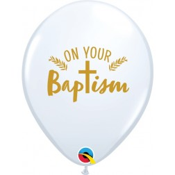 """11"""" On Your Baptism Cross White (50 ct.)"""