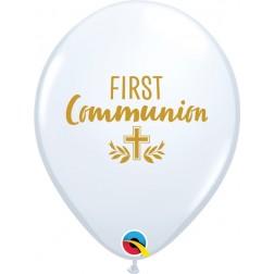 "11"" First Communion Cross White (50 ct.)"