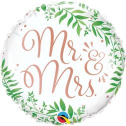 "18"" Mr. & Mrs. Elegant Greenery"
