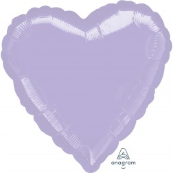 Standard Heart Metallic Pearl Pastel Lilac