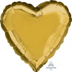 Standard Heart Metallic Gold