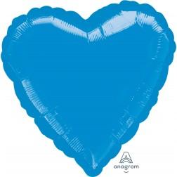 Standard  Heart Metallic Blue