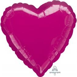 Standard Heart Metallic Fuchsia