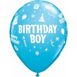 """11"""" Birthday Boy 50ct"""