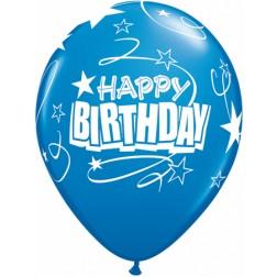 "11"" Birthday Loops & Stars Carnival Assortment 50ct"