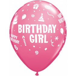 "11"" Birthday Girl 50ct"