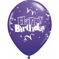 "11"" Birthday Streamers & Stars 50ct"