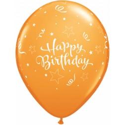 "11"" Birthday Shining Star Tropical Assortment 50ct"