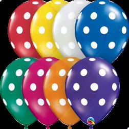 """11"""" Big Polka Dots Jewel Assortment 50Ct"""
