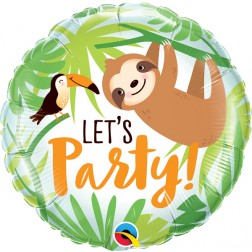 """18"""" Let's Party Toucan & Sloth"""
