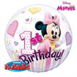 "22"" Minnie Mouse 1st Birthday Bubble"