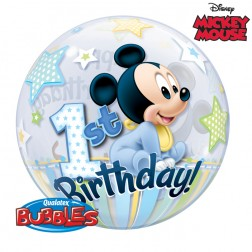 """Bubble 22"""" Mickey Mouse 1st Birthday"""