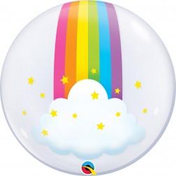 """Deco Bubble 24"""" Rainbow Clouds"""