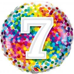 "18"" 7 Rainbow Confetti"