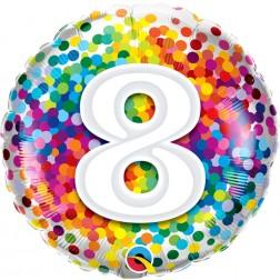 "18"" 8 Rainbow Confetti"