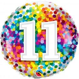 "18"" 11 Rainbow Confetti"
