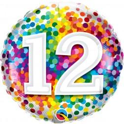 "18"" 12 Rainbow Confetti"