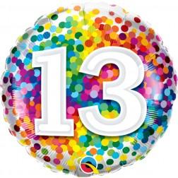 "18"" 13 Rainbow Confetti"