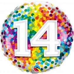 "18"" 14 Rainbow Confetti"