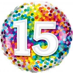 "18"" 15 Rainbow Confetti"