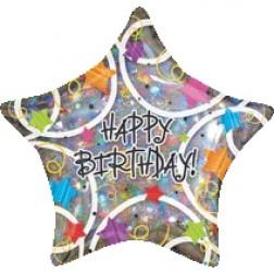 Jumbo Happy Birthday Stars