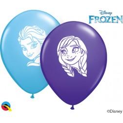 """05"""" Anna & Elsa Faces Ast P Blue&Violet (100 ct.)"""