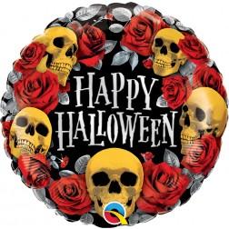 """18"""" Halloween Golden Skulls"""