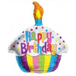 "14"" PR Birthday Bright Cupcake Shape"