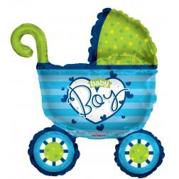 "14"" PR Baby Boy Stroller Shape"
