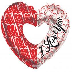 """09"""" PR ILY & XOXO Heart Shape"""
