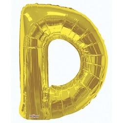 """34"""" SP: Gold Shape Letter D"""