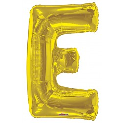 "34"" SP: Gold Shape Letter E"