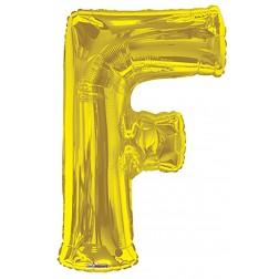 """34"""" SP: Gold Shape Letter F"""