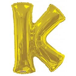 """34"""" SP: Gold Shape Letter K"""