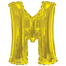 "34"" SP: Gold Shape Letter M"