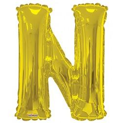 """34"""" SP: Gold Shape Letter N"""
