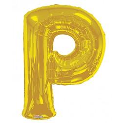 """34"""" SP: Gold Shape Letter P"""