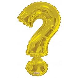 """34"""" SP: Gold Shape Letter """"?"""""""