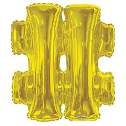 """34"""" SP: Gold Shape Letter """"#"""""""
