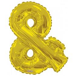 """34"""" SP: Gold Shape Letter """"&"""""""