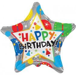 """18"""" SP: BV Birthday Silver Star"""