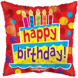 "18"" SP: BV Birthday Cake & Candles"