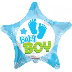 "18"" SP: BV Baby Boy Footprints"