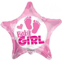 """18"""" SP: BV Baby Girl Footprints"""