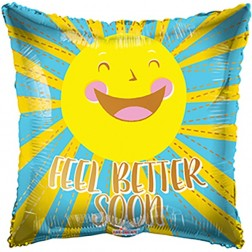 "09"" PR Feel Better Happy Sun With Valve"