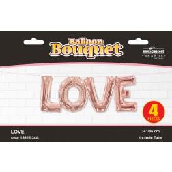 "34"" Bouquet LOVE Rose Gold"