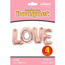 "14"" Bouquet Love Rose Gold"